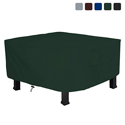 Fire Pit Outdoor Covers - Waterproof, 100% UV Resistant Square Fire Pit Cover, 18Oz PVC Fabric with Air Pockets and Drawstring for Snugfit to Withstand Winds & Storms. (42\