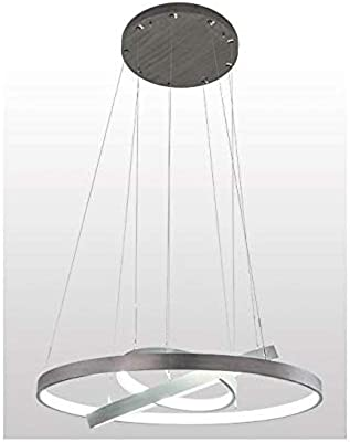 Meyda Tiffany 191882 Contemporary Modern LED Pendant from Anillo Collection in Timeless Bronze Finish, 49.50 inches
