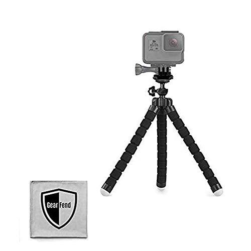 WERPOWER GearFend 65 Flexible Universal Tripod Gopro Tripod Mount for All Gopro Sjcam Xiaoyi Cameras Plus Microfiber Cloth