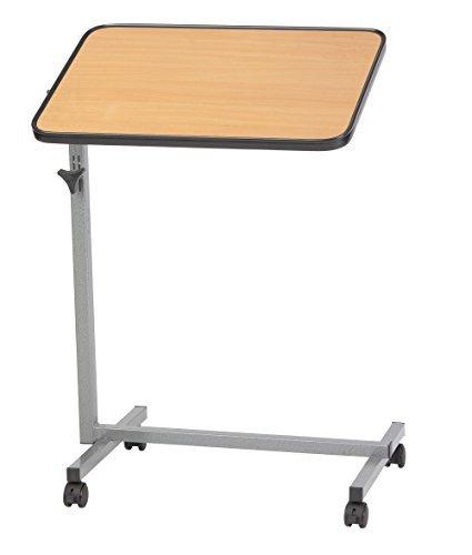 Bijzettafel verzorgingstafel, laptoptafel, revalidatietafel, bedtafel bruin