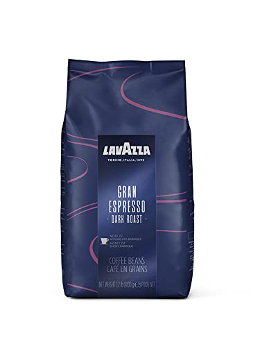 Lavazza Gran Espresso Whole Bean Coffee Blend, Medium Espresso Roast, Bag 2.2 LB (Pack of 1) ,Authentic Italian, Blended and roasted in Italy, Balanced and rich flavor with notes of cocoa
