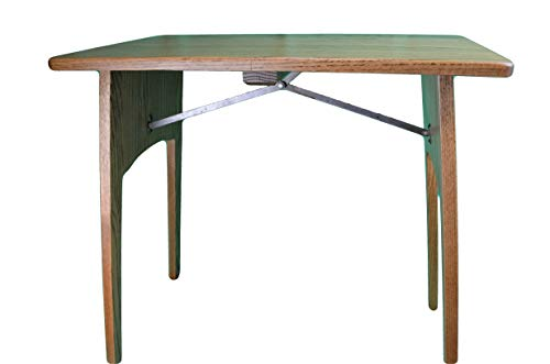 Fireside Finished Oak Folding Table Handcrafted By the Amish This Folding Oak Table Is a Must Have for Any Sewing Room. This Folding Table Measures 26 1/2' Wide X 15 1/4' Depth X 26' High and Is Very Sturdy. Stain Colors May Vary. Ideal for Holding a Sewing Machine.