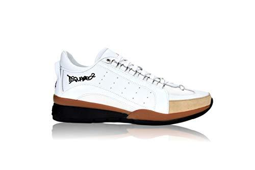 DSQUARED2 W17SN192 - Zapatillas deportivas para hombre Blanco Size: 45 EU
