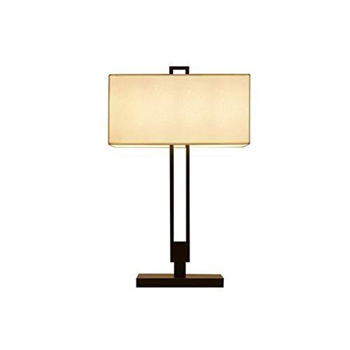 Lfixhssf Moderne, minimalistische slaapkamerlamp voor woonkamer, studio, doek, nachttafellampje, hotelkamer, Chinese wind, tafellampen Lfixhssf