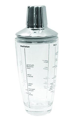 Tablecraft 3 Piece Small Boston Shaker, 12 oz, Clear