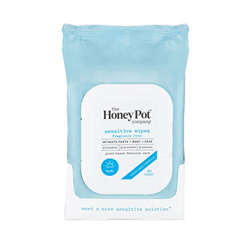 The Honey Pot Company Feminine Wipes - Sensitive, 30 Count
