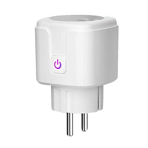 Kaxofang Enchufe Inteligente de 1 Pieza, Salida WiFi Funciona con Alexa, Asistente de, Control Remoto de Sus ElectrodoméSticos (Enchufe de la EU)