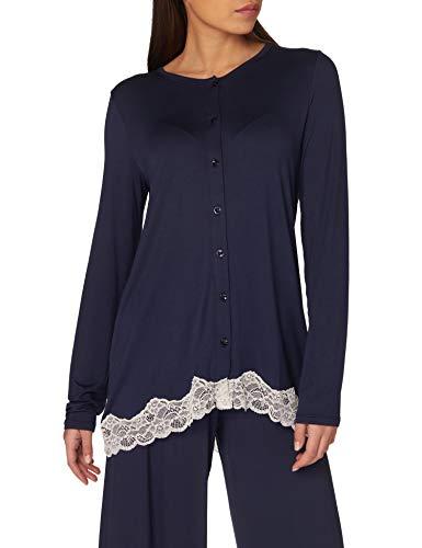 United Colors of Benetton Camicia 3U113M413 Camiseta de Pijama, Azul 13 C, S para Mujer
