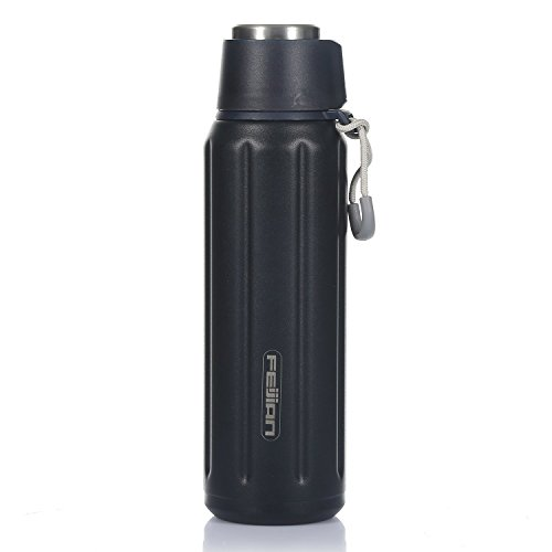 FEIJIAN Insulated Water Bottles with Handle,Stainless Steel Metal Water Bottles Keep Cold with BPA Free, Double Walled Vacuum,No Leak, Best Temperature Contral to Keep Drink Hot or Cold,20 oz