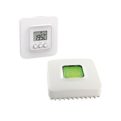 Delta Dore - Termostato de pared conectado para calderas y bomba de calor con caja domótica Pack Tybox 5000 conectado, calefacción conectada | programación | control de voz - 6050637
