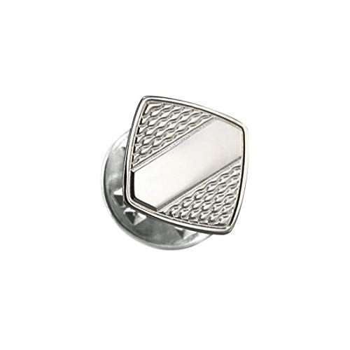 Epingle à Cravate Carrée à Motifs en Argent 925/1000