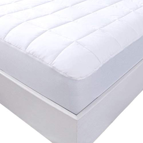 Lancashire Bedding Natural 100% Cotton Quilted Mattress Protector - Ultra Comfort & Keep Cool - Single Double King Superking Emperor