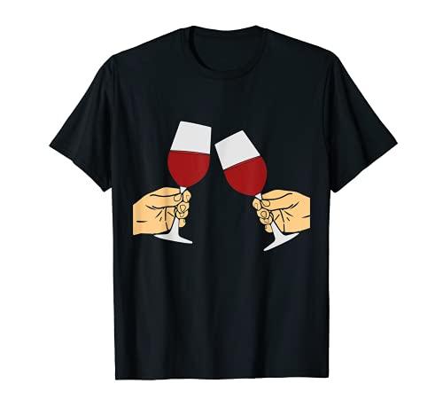 Brindis por la vendimia del vino tinto Camiseta