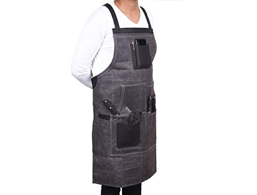 Vero Nord Leather Waxed Canvas Apron 1