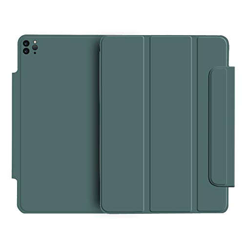 ASR-YD Smart Strong Magnetic Case for New iPad Pro 12.9' 2020, Camera Full Protection Design, Trifold Stand Case Cover with Auto Sleep/Wake for iPad Pro 12.9 2020,Dark Green