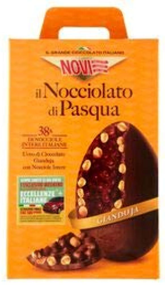 Novi il nocciolato, uovo di pasqua  di cioccolato gianduia, con il 38% di nocciole intere italiane , 370g