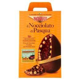 uova di pasqua inter Novi Il Nocciolato di Pasqua Uovo di Cioccolato Gianduia con il 38% di Nocciole Intere Italiane - 370g