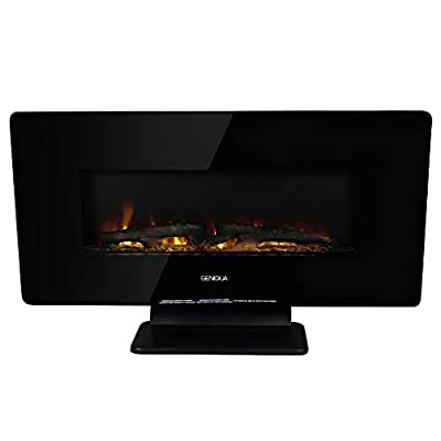 """Geniqua 36"""" 1400W Heat Wall Mount or Standing Electric Fireplace w/Remote Multicolor LED"""