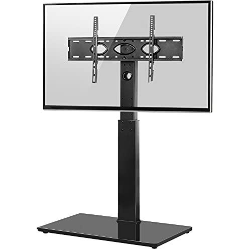 RFIVER Universal TV Ständer TV Rack Hoch 32-65 Zoll LED LCD Flach Curved TV Bodenständer Standfuss Fernseher Standfuß Freistehend Fernsehständer Max. VESA 600x400 mm Höhenverstellbar Schwenkbar