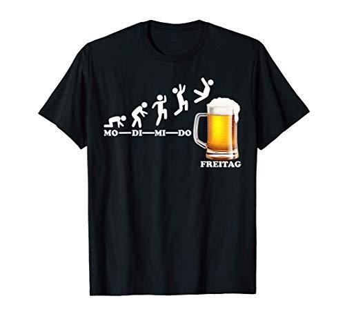 Lustige Bier Sprüche Woche Endlich Freitag Wochenende T-Shirt