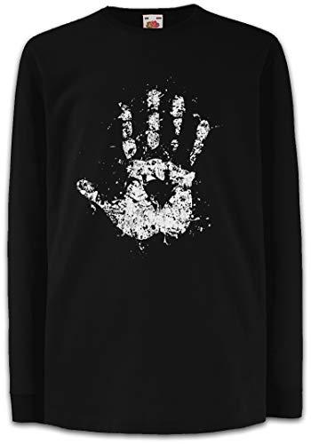 Urban Backwoods White Hand II Camisetas de Manga Larga T-Shirt para Niños Niñas Negro Talla 8 Años