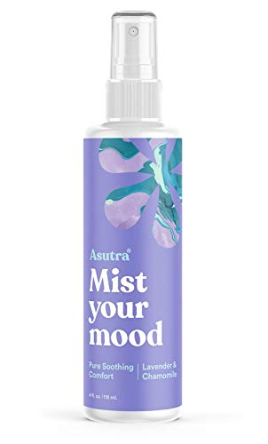 ASUTRA Lavender & Chamomile Essential Oil Blend, Aromatherapy Spray, 4 fl oz | for Face, Body, Rooms, & Linens | Helps Relax Mind & Body to Sleep | Pure Soothing Comfort