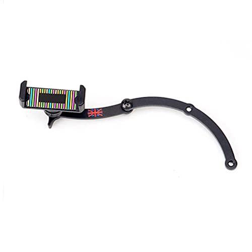 Heinmo KFZ-Handyhalterung, zusammenklappbar, 360 ° drehbar, für Mini Cooper R55 R56 R60 R61 Clubman Hatchback Countryman Paceman (Rot Union Jack + Regenbogen)