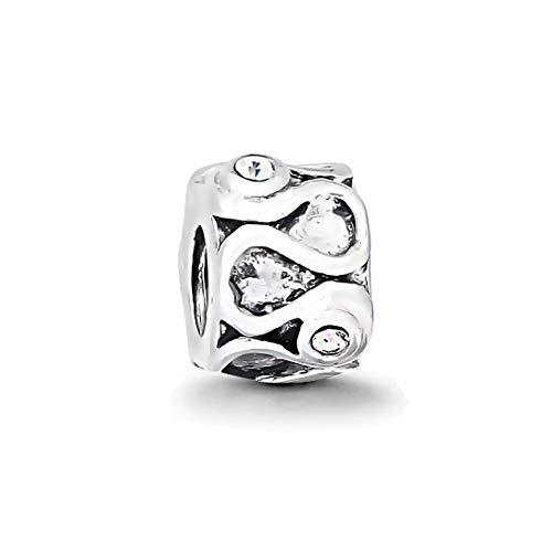 AKKi jewelry Charms Beads Anhänger Edelstahl Angebot Perle für bettel-Armband Bead Charm Silber Original Chrystal Strass kompatibel mit Pandora Style