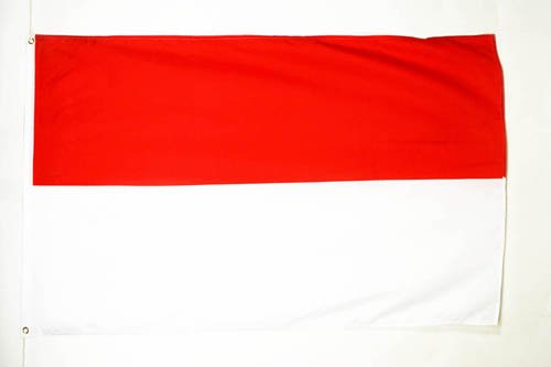 AZ FLAG Flagge INDONESIEN 150x90cm - INDONESICHE Fahne 90 x 150 cm feiner Polyester - flaggen