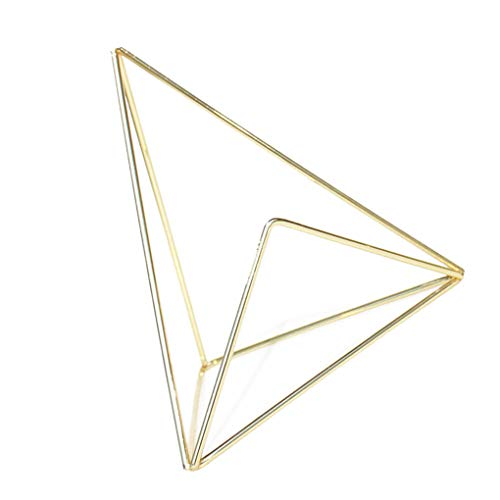 Guangcailun Metal förlägger kortet Holder geometrisk form Clips Bröllop gynnar Place Card Holder Table Foto Memo Nummer Namn Clips Base