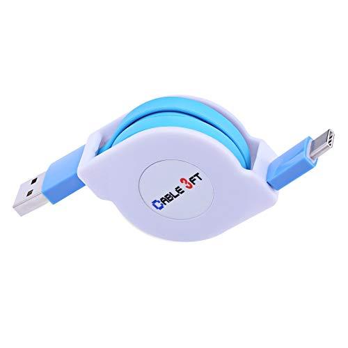 BZN 1m 2A 110 alambres de cobre Core retráctil USB-C / tipo C a USB Data Sync cable de carga, for la galaxia S8 y S8 + / LG G6 / Huawei P10 y P10 Plus / Xiaomi MI6 & Max 2 y otros teléfono