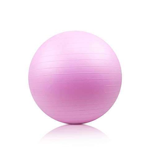 Keolorn AntiBurst and Slip Resistant Exercise Ball Yoga Ball Fitness Ball Birthing Ball with Quick PumpPurple