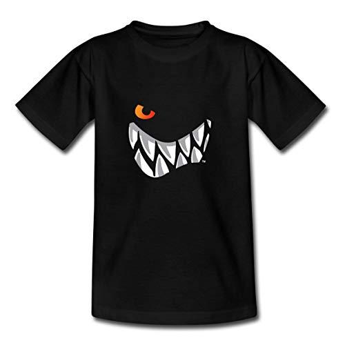 Die Wilden Kerle Grinsen Kinder T-Shirt, 122-128, Schwarz