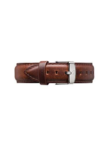 Daniel Wellington Classic St Mawes, Braun/Silber Uhrenarmband, 20mm, Leder, für Herren