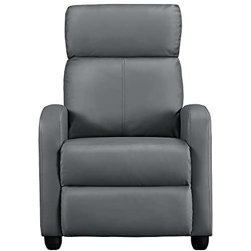 Yaheetech Ruhesessel Relaxsessel Liegesessel mit Verstellbarer Fußstütze und liegefunktion Fernsehsessel aus Kunstleder Einzelsofa 160° neigbar 67 x 157 x 76 cm