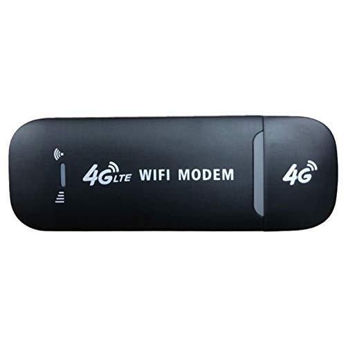 Peaches Stores Adaptador de red USB, desbloqueado 4G LTE Mini WiFi Módem Módem USB Inalámbrico Módem Módem Módem Módem Módem Módem Módem de Banda ancha SIM Módem para PC PC Ordenador Portatil (Negro)