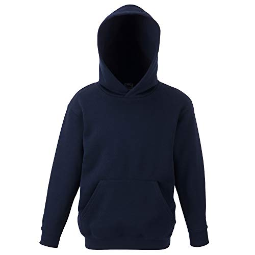 Fruit of the Loom - Classic Kinder Kapuzen-Sweatshirt 'Kids Hooded Sweat' 140,Deep Navy