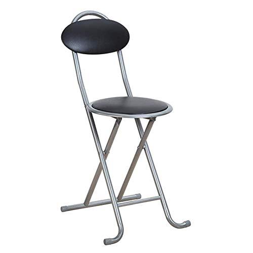 Jiangpengg Draagbare kleine klapstoel thuis kruk met zacht oppervlak stoel van kunststof rugleuning eetkamerstoel eenvoudige zitting voor conferentietraining