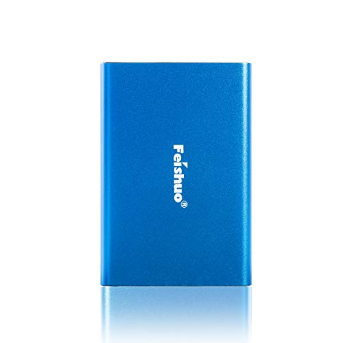 FEISHUO Portable External Hard Drive, HDD USB 3.0 for PC, Mac, Windows, Linux, Android OS(1T, Blue)