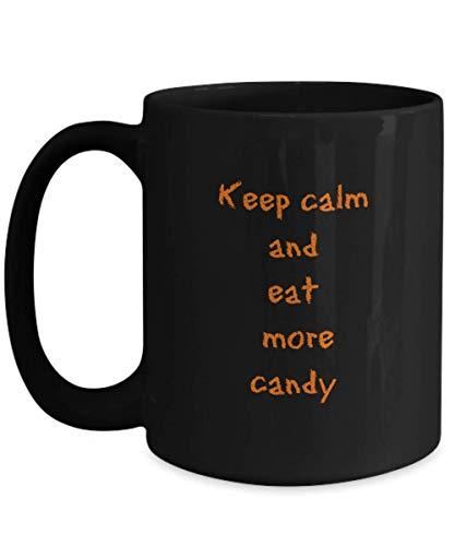 Aterrador Feliz Halloween Taza de caf Caramelo Horror Casa Regalo Diseo de truco embrujado Calabaza Trato espeluznante Disfraz Bruja DIY Gato negro
