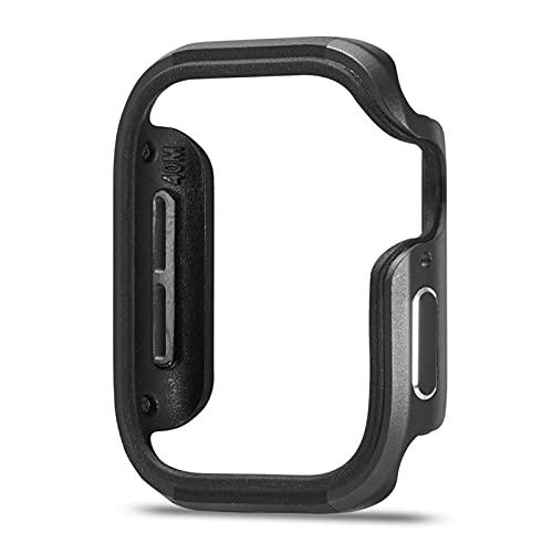 PZZZHF Nuevo diseño de aleación de Aluminio + Funda TPU para la Serie de Apple Watch SE Serie 6 5 4 Funda de 44 mm 40 mm Cáscara Parachoques para el Marco del iWatch