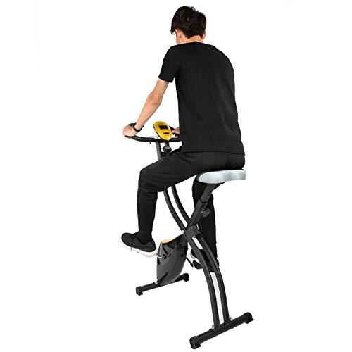 Bicicleta estática plegable, bicicleta estática para el hogar, estructura resistente El modo múltiple puede adaptarse a la altura del usuario y ofrecer más comodidad, no ocupa mucho espacio