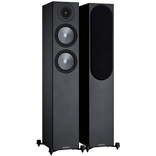 Monitor Audio Bronze 200 - coppia di altoparlanti da pavimento, colore: Nero