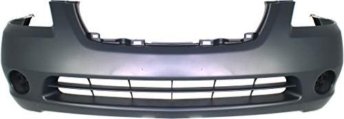 Evan-Fischer Front Bumper Cover Compatible with 2002-2004 Nissan Altima Primed with Fog Light Holes