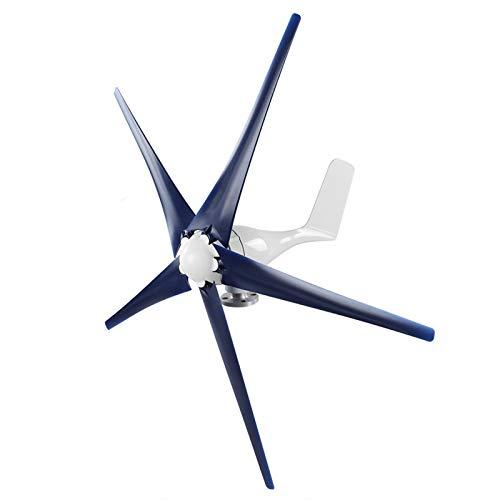 Fafeicy Generador de molino de viento, kit de aerogeneradores pequeños de 1600 W y 5 aspas,...