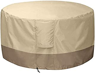 Waterproof Fire Pit Cover Round Outdoor Furniture Cover