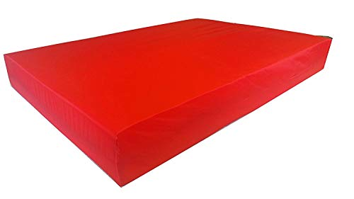 KosiPad Deluxe Gym Landing Crash Mat, Play, Nursery, Training Safe, Soft (Hot Red, Medium)
