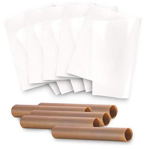 Lamina di Cottura (Set di 10, 40 x 60 cm)Tappetino da Forno Riutilizzabile Antiaderente con Rivestimento Antiaderente può Essere Tagliata e Lavabile Carta da Forno Ecologica Premium