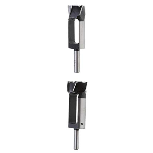 Bonarty 2 Pieces Dowel Tapered Snug Plug Cutters 1/2' Shank, Diameter 25mm and 35mm