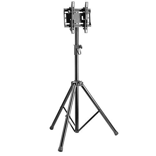 RICOO TV Halterung Fernseher Ständer Höhenverstellbar Neigbar (FS0822) Universal Fernsehhalterung für 23-42 Zoll Flach-Bildschirm (bis 35-Kg, Max-VESA 200x200) Tripod Stand-Fuß